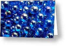 Blue Marbles Greeting Card