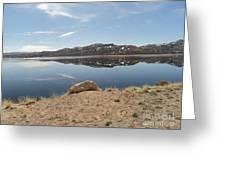 Blue Mesa Reflection Greeting Card