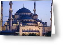 Blue Mosque Exterior Greeting Card