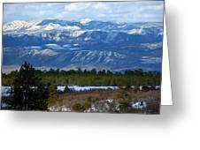 Blue Mountain View Greeting Card
