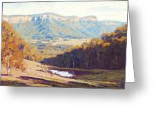 Blue Mountains Paintings Greeting Card