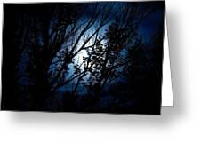 Blue Night Greeting Card by Kevin Bone