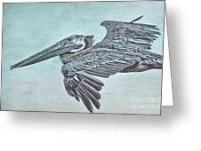 Blue Pelican Greeting Card