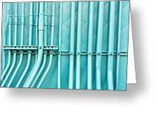 Blue Pipes Greeting Card by Tom Gowanlock