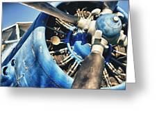 Blue Plane - Antonov 2 Greeting Card