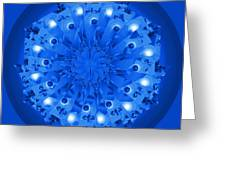 Blue Plate Greeting Card by Linda Pope
