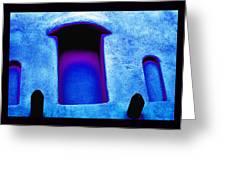 Blue Portals Greeting Card