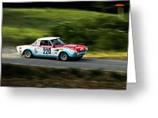 Blue Red And White Fiat Abarth Greeting Card
