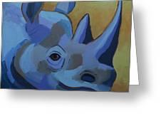 Blue Rhino Greeting Card