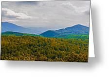 Blue Ridge Panorama Greeting Card