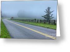 Blue Ridge Parkway At Northwest Trading Post I Greeting Card