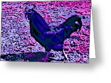 Blue Rooster Greeting Card