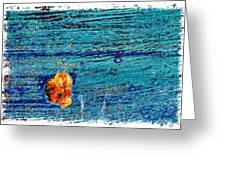 Blue Rusted Steel Painted Background Greeting Card