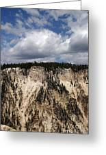 Blue Skies And Grand Canyon In Yellowstone Greeting Card