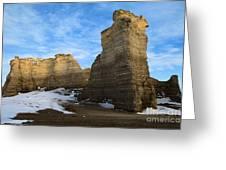 Blue Skies At Monument Rocks Greeting Card