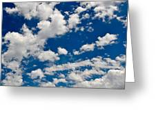 Blue Sky And Clouds Greeting Card