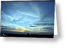 Blue Sky At Night Greeting Card