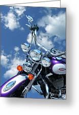 Blue Sky Harley Greeting Card