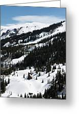 Blue Sky Miners Cabin Greeting Card