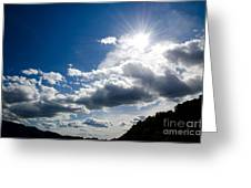 Blue Sky With Clouds Greeting Card