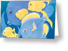 Blue Tango Greeting Card