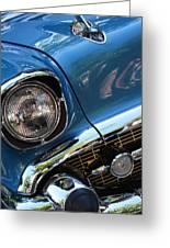 Blue Thunder - Classic Antique Car- Detail Greeting Card
