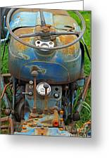 Blue Tractors Driver's Seat Greeting Card