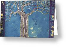Blue Tree Greeting Card