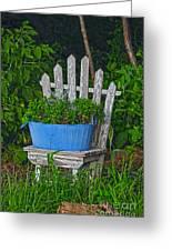Blue Tub Greeting Card
