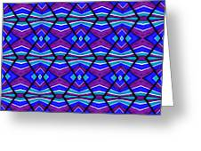 Blue Turquoise And Purple Greeting Card