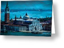 Blue Venice Greeting Card