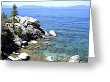 Blue Waters Of Lake Tahoe Greeting Card