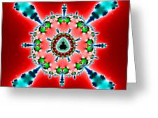 Blue X On Red Greeting Card