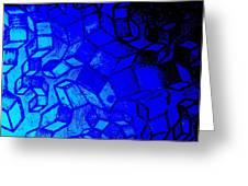 Blue Zinc Greeting Card