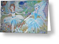 Blueberry Fairies Greeting Card