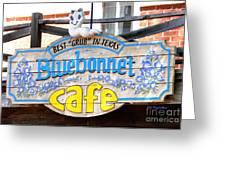 Bluebonnet Cafe Greeting Card