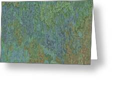 Bluegreen Stone Abstract Greeting Card