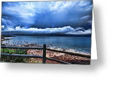Bluer On The Other Side Greeting Card