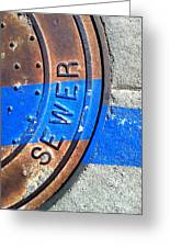Bluer Sewer Three Greeting Card