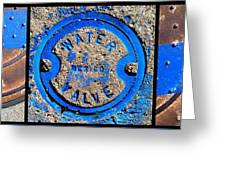 Bluer Sewer Triptych Greeting Card