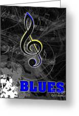 Blues Music Poster Greeting Card
