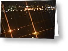 Blurred City Nights Greeting Card by Naomi Berhane
