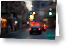 Blurred Traffic Jam Greeting Card