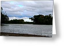 Blustery River  Greeting Card