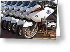 Bmw Police Motorcycles Greeting Card