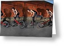 Bmx Flatland Motion Study - Monika Hinz Greeting Card