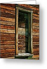 Boarded Doorway Greeting Card