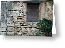 Boarded Window England Greeting Card