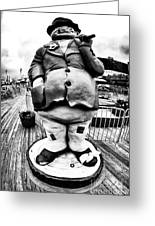 Boardwalk Hobo Greeting Card by John Rizzuto