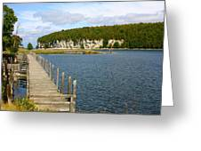 Boardwalk On A Counry Lake Greeting Card